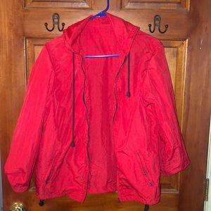 Brandy Melville red windbreaker